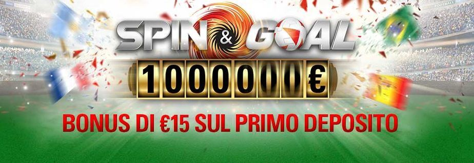 pokerstars codice bonus spin and goal